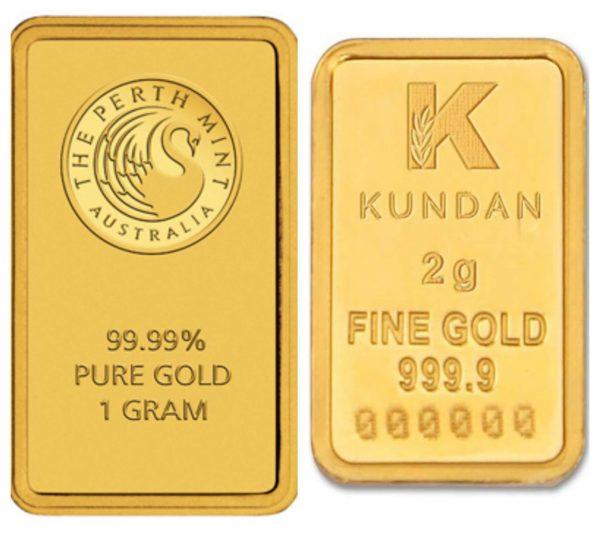 1 & 2 Gram gold bullion