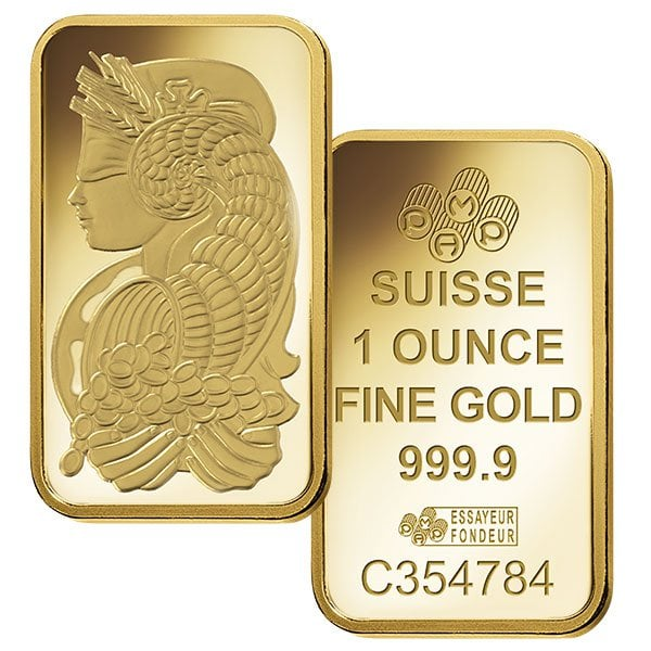 Pamp Suisse 1oz Gold Bullion Bar