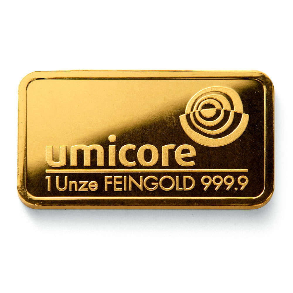 Umicore1 oz gold bar