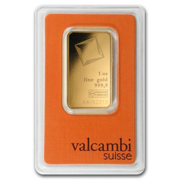 Valcambi 1oz Gold Bullion Bar