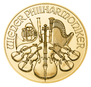 Vienna Philharmonic half oz Gold Coin